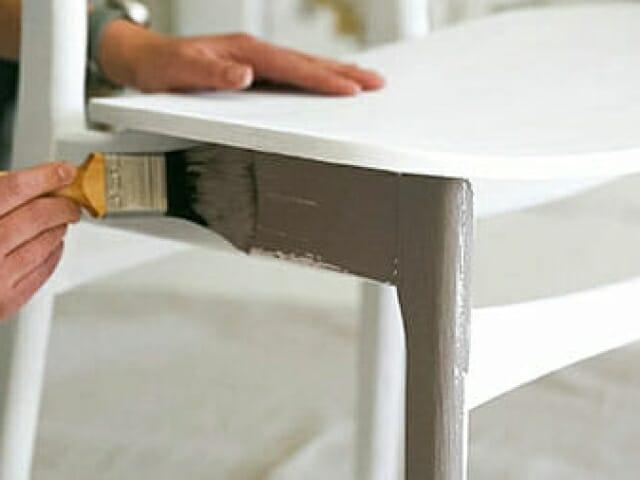 en som maler kjøkkenstol