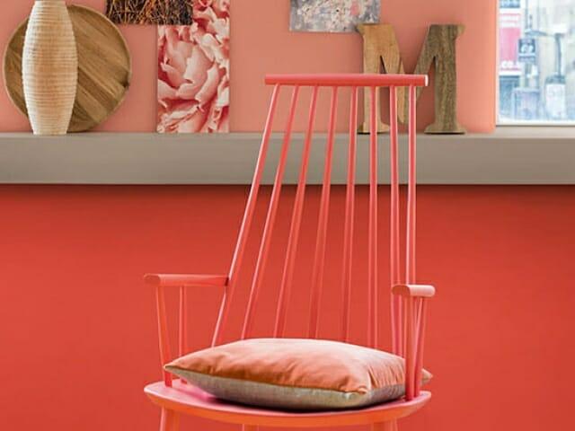 oransje kjøkkenstol