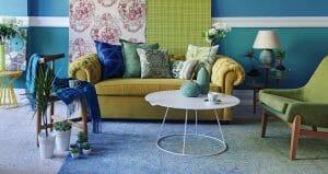 interiør med ulike møbler