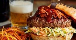 hamburger med pulled pork