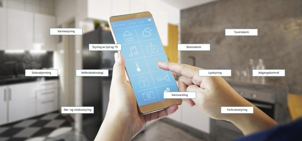 styring med smarthusapp