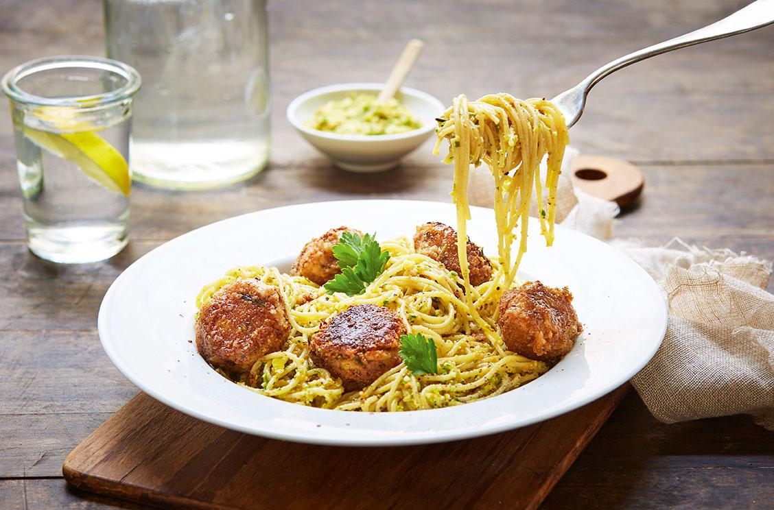 pasta med kikertboller