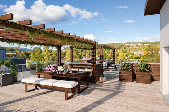 veranda på taket