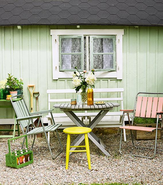 hagemøbler malt med vindusmaling