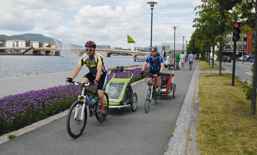 treningstur med sykkel i Drammen
