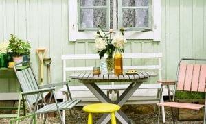 vindusmaling til hagemøblene