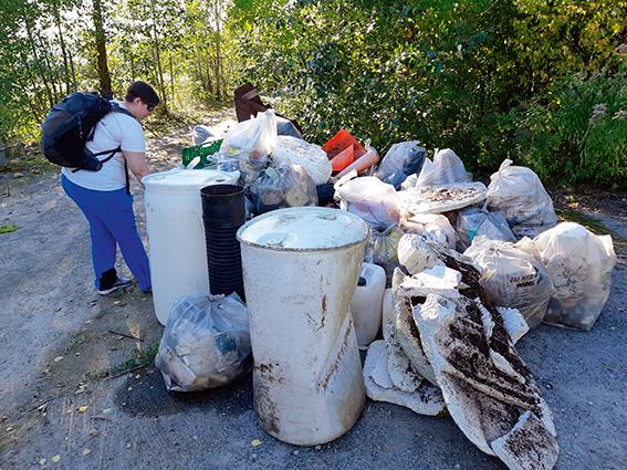 plukking av søppel