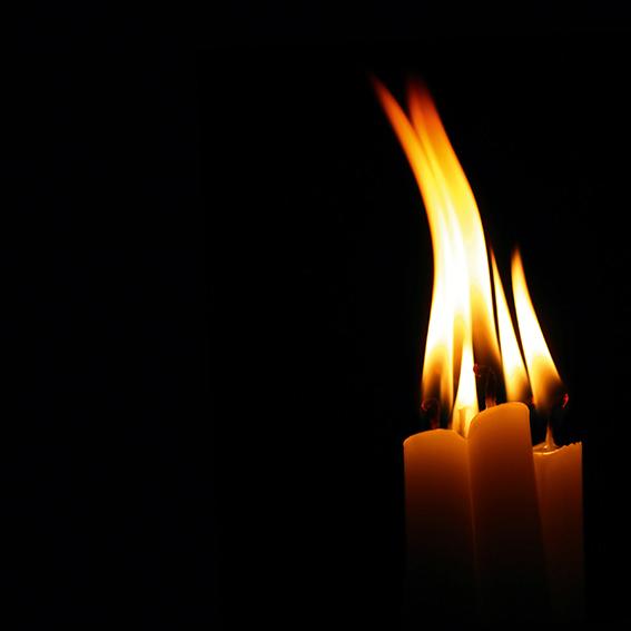 brennende lys